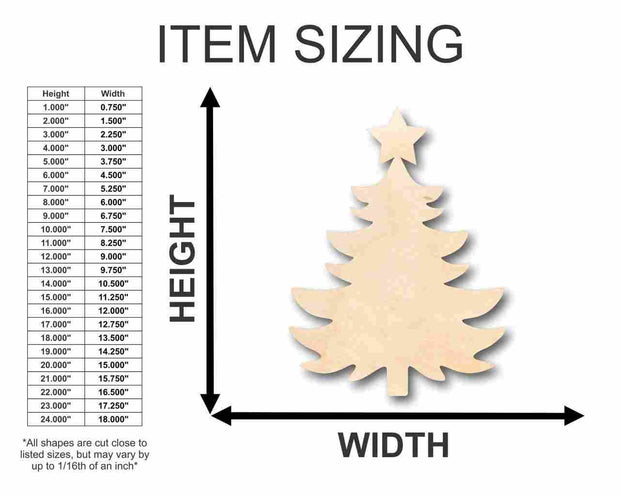 """Unfinished Wooden Christmas Tree Shape - Craft - up to 24"""" DIY 1"""