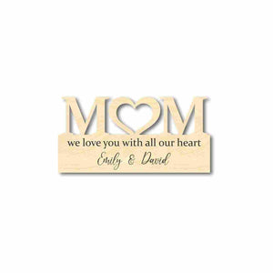 "Wooden Love Mother's Day Gift Customizable Cutout Finished or Unfinished up to 48"" Wide - Home Decor DIY"
