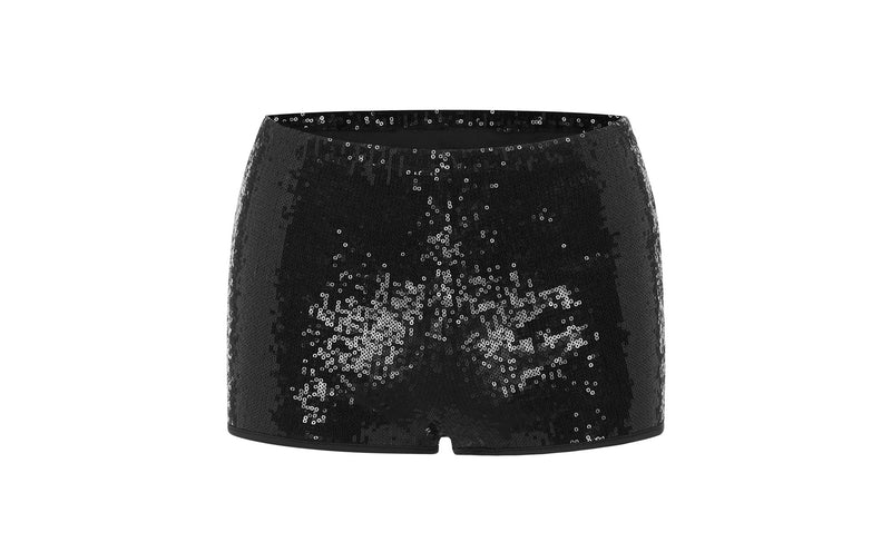 Sequinned boy leg short