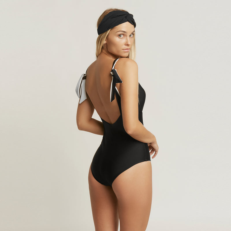 Tie back swimsuit