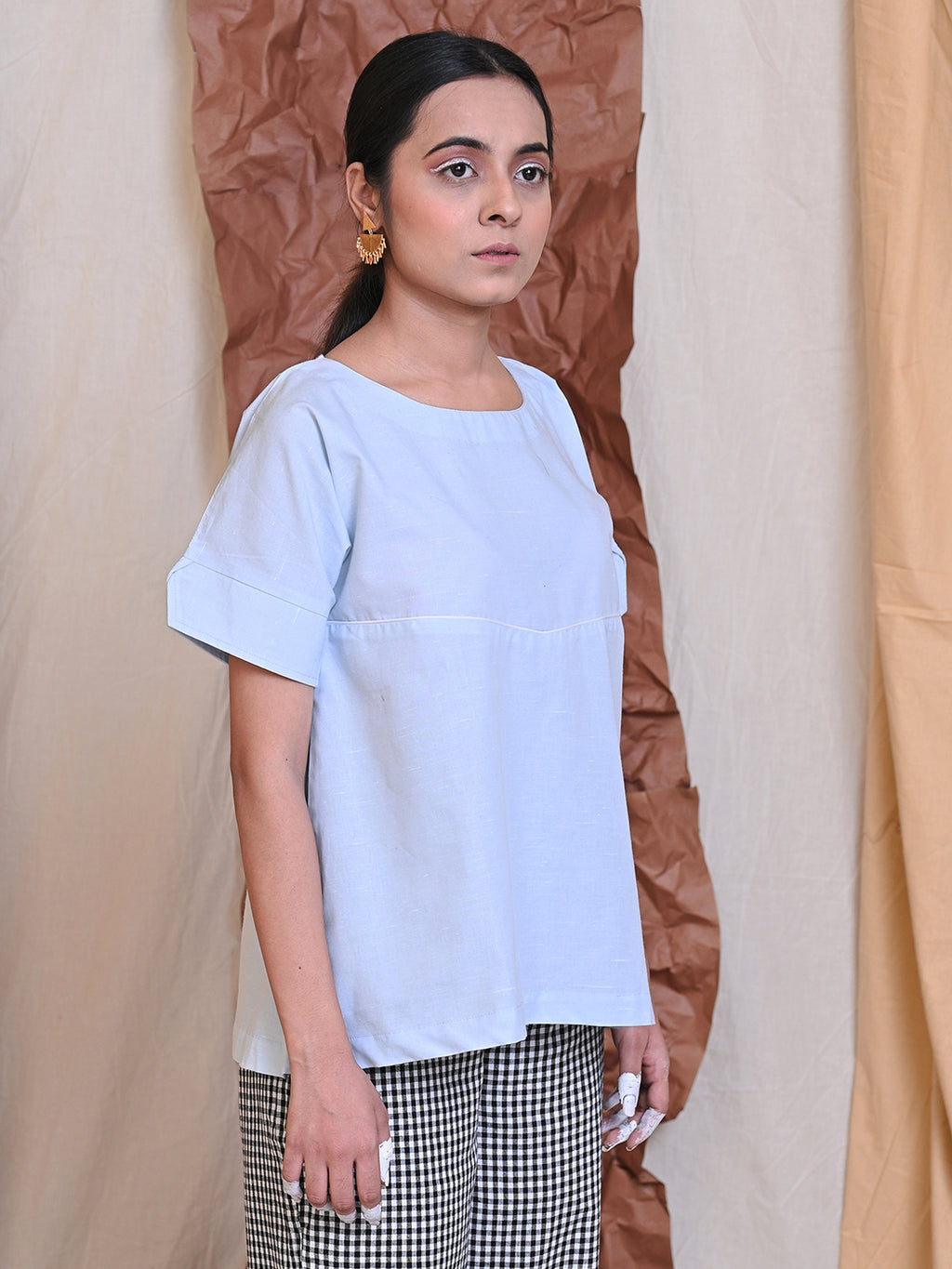 WEEKDAY BLOUSE - LIGHT BLUE