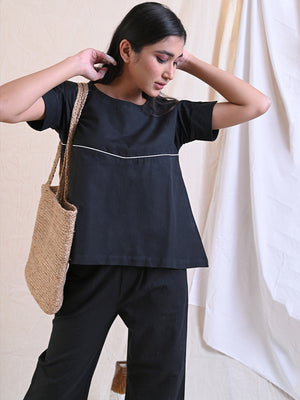 WEEKDAY BLOUSE - BLACK
