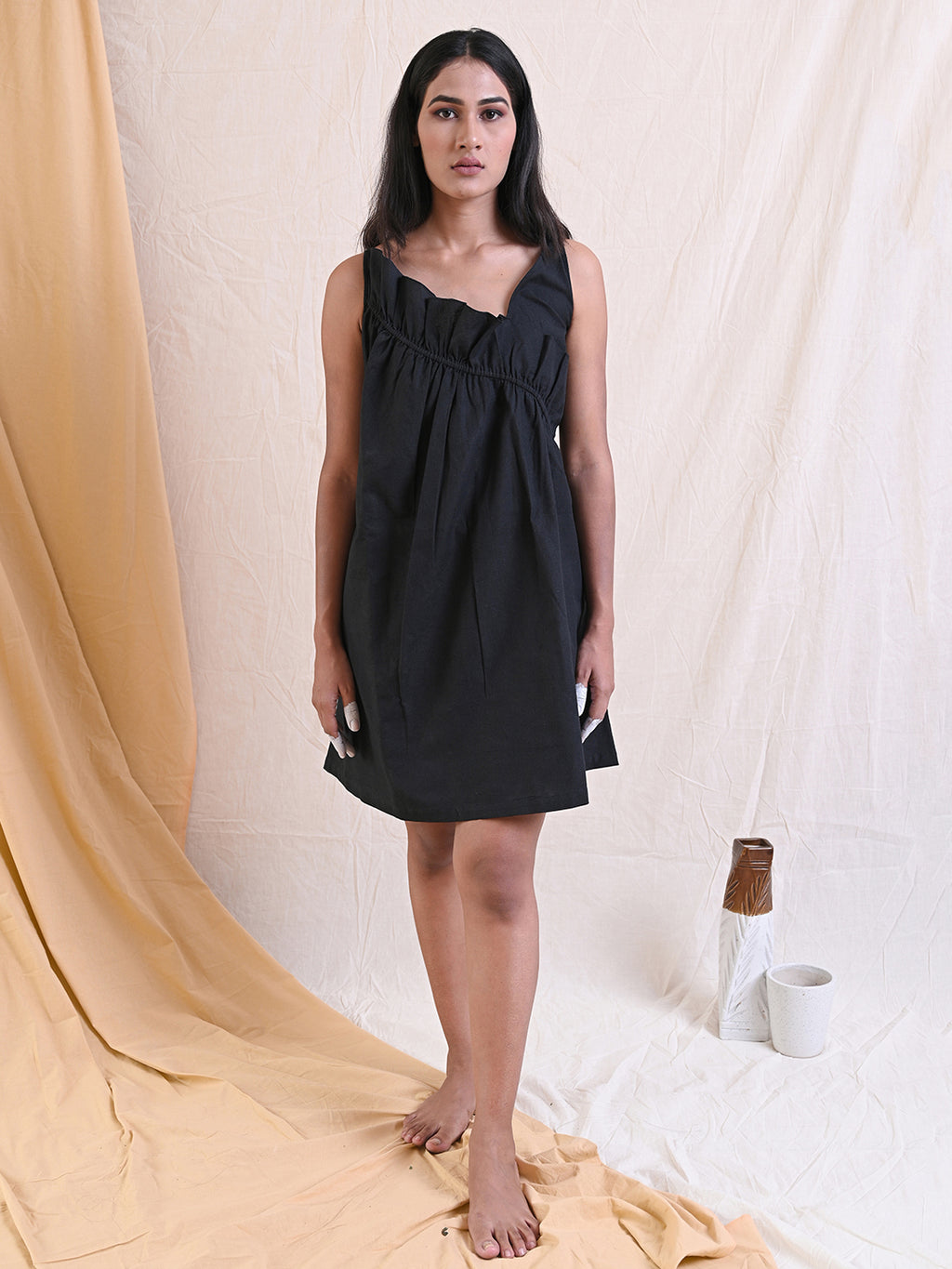 FRILLED SLIP DRESS