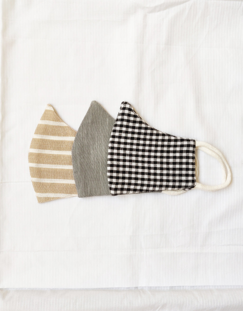 soft, breathable masks in upcycled cotton