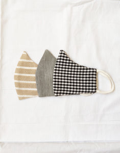 UPCYCLED COTTON MASK (SET OF 3)