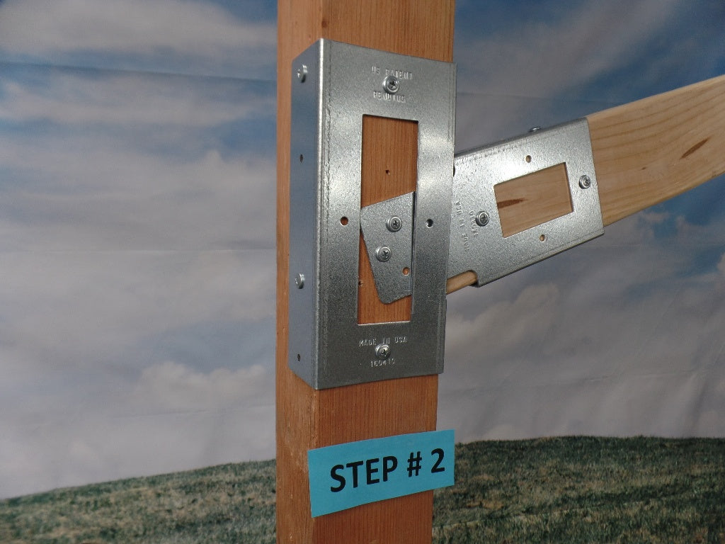 Wide Slide Bracket for a wide facing 2 x 4 (Click to see more details on this bracket / DIY video)