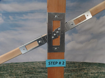 Narrow Slide Bracket for a narrow facing 2 x 4 (Click to see more details on this bracket / DIY videos)