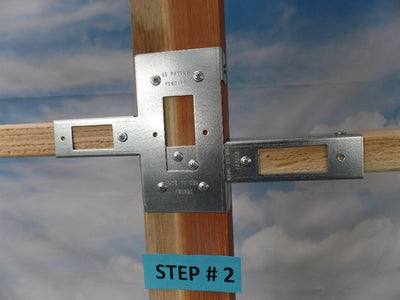 Open Slider Post with narrow 2 x 4 side (Click to see more details on this bracket / DIY video)
