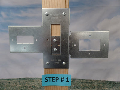 Open Slider post side with wide 2 x 4 side (Click to see more details on this bracket / DIY video)