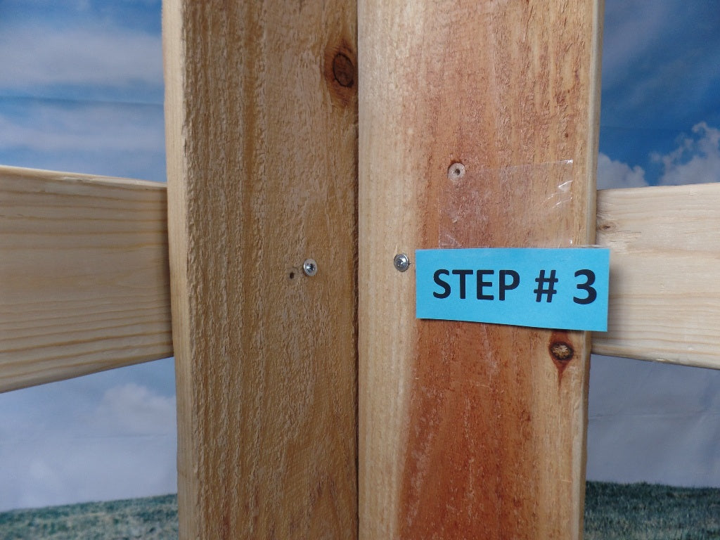 Slotted Corner Bracket with wide 2 x 4 sides (Click to see more details on this bracket / DIY video)