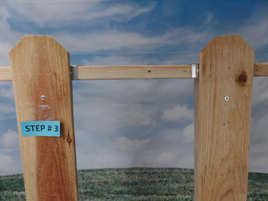 Top Post One Side Bracket 2 x 4's held down (Click to see more details on this bracket / DIY video)