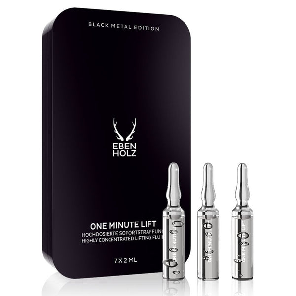 One Minute Lift, udglattende ansigtsserum (7x2ml), Ebenholz - Barber&Care
