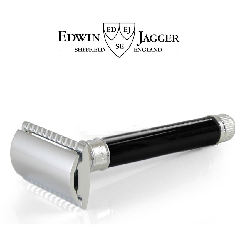 Traditionel Safety Razor, sort, Edwin Jagger - Barber&Care