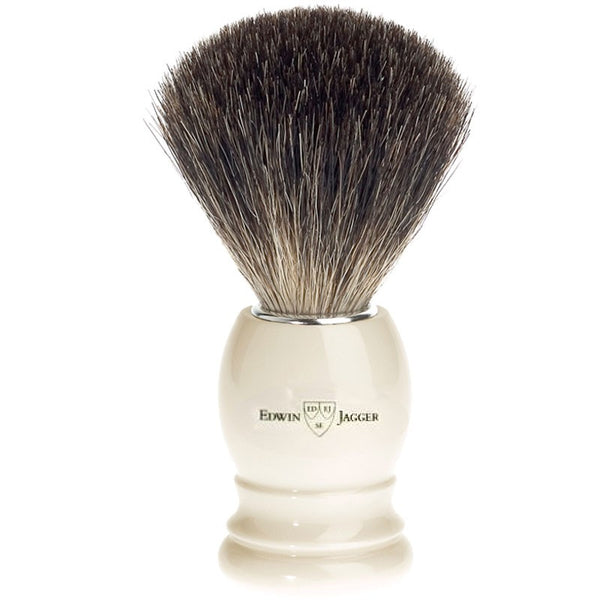 Barberkost Hvid Pure Badger Medium - Barber&Care