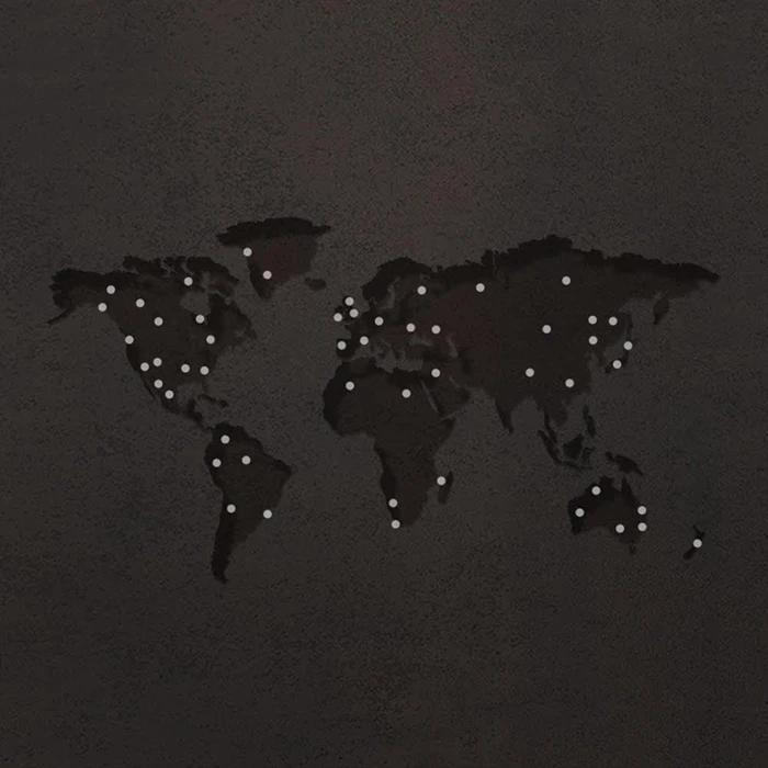 Map of where Metalbird is in the world