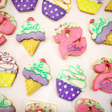 Shop for custom decorated birthday cookies online at Sugarica Cookies by visiting http://www.sugaricacookies.com
