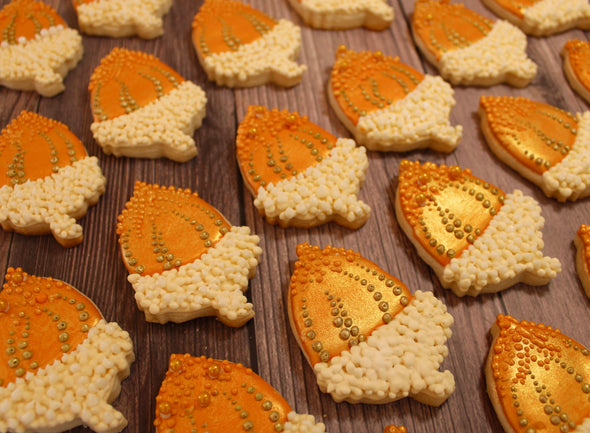 Shop online for the best Thanksgiving and holiday decorated cookies and gourmet gifts at www.sugaricacookies.com