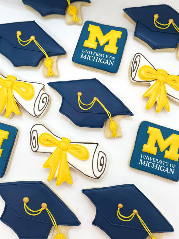 Order the best and most popular graduation cookies, custom graduation cookies and fully-customizable graduation cookies online at www.sugaricacookies.com