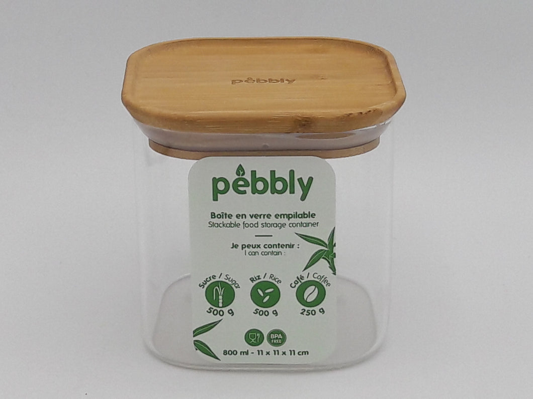 Vorratsglas pebbly 800ml