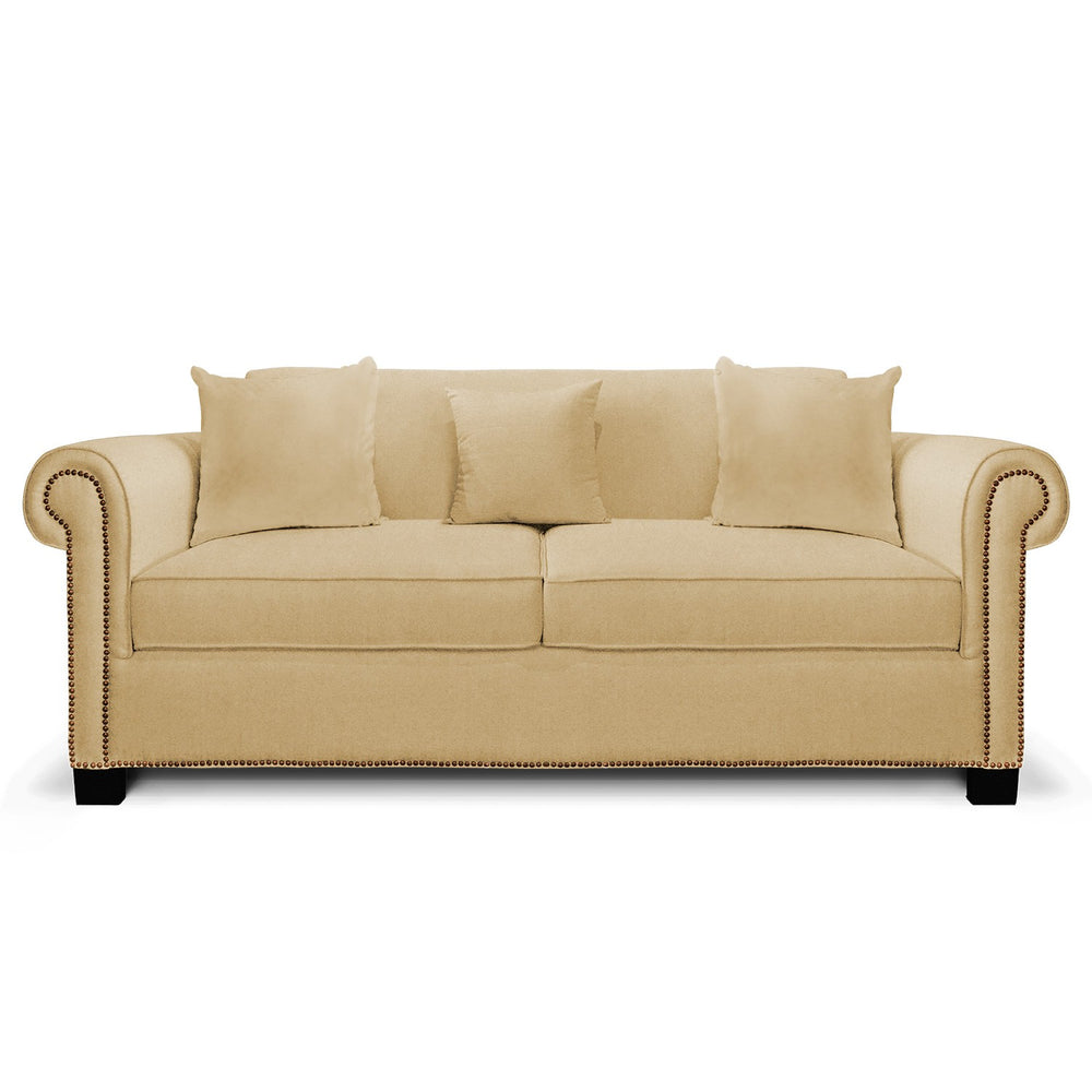 Allen Roll-Arm Sofa: Cream, Fabric