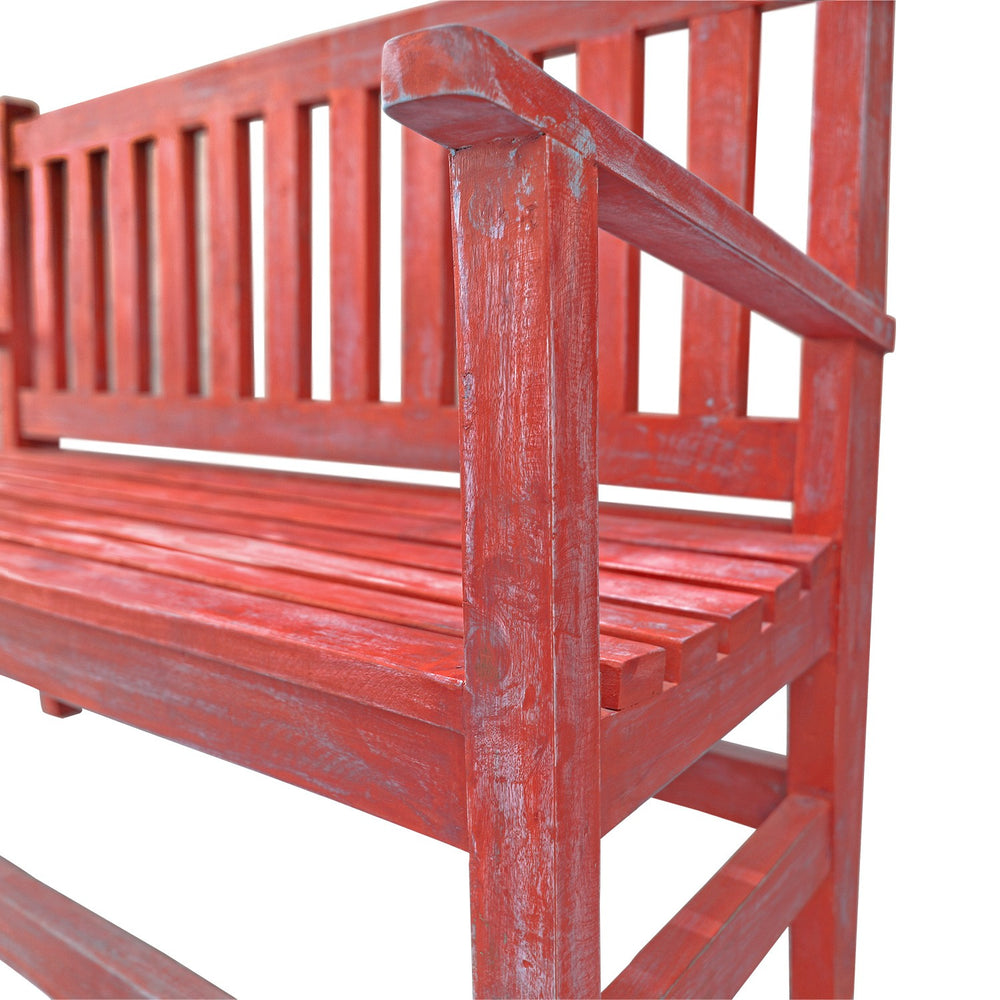 Antique Bench: Red