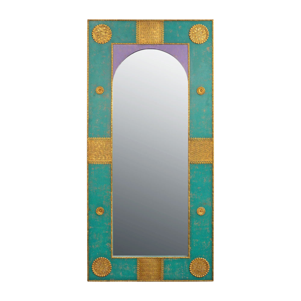 Antique Aqua Mirror