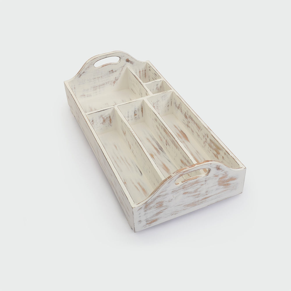 Foldable Bar Tray: Antique White