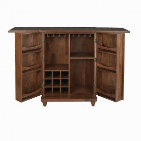 Bar Cabinet With Folding Top