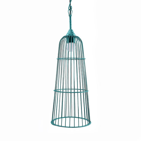 Cage Hanging Light: Antique Turquoise