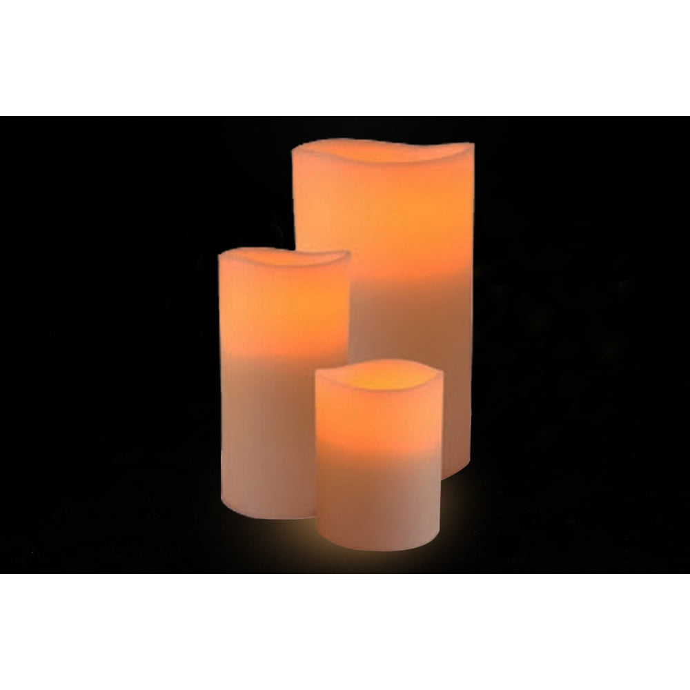 Wax Flicker Led Candles (Set Of 3)