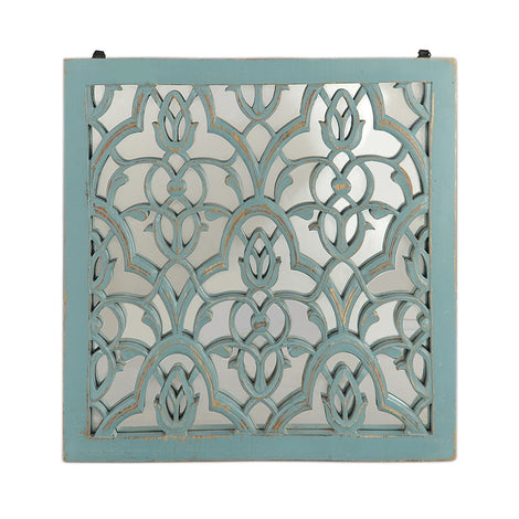 Damask Wall Art: Blue