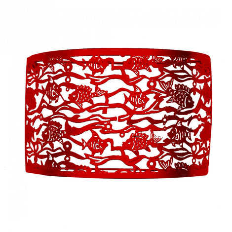 Fish Wall Lamp Shade: Red