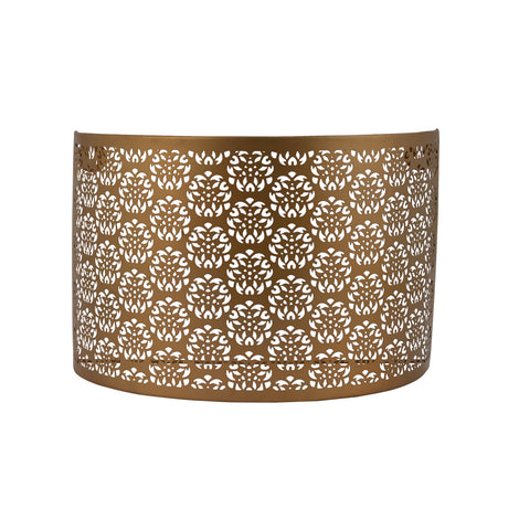 Floral Wall Lamp Shade: Golden
