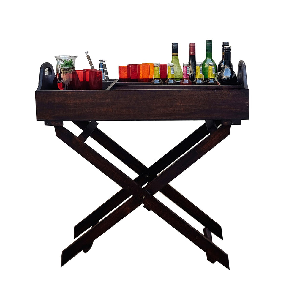 Foldable Mangowood Bar Tray