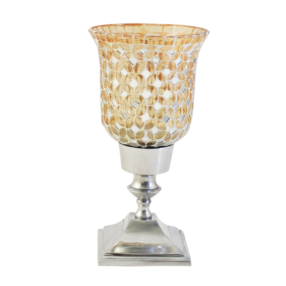 Gold Mosaic Candle Holder