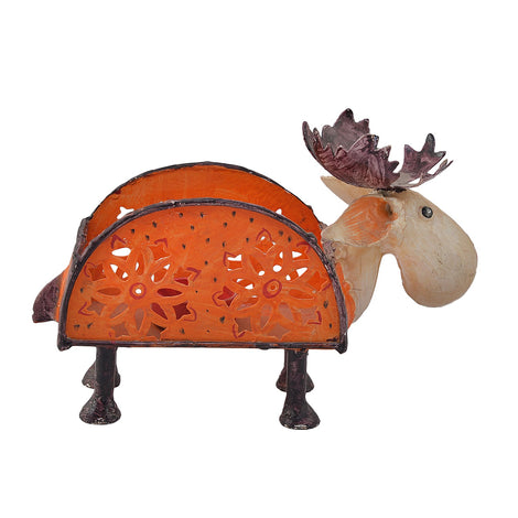 Handpainted Moose Tissue Paper Holder
