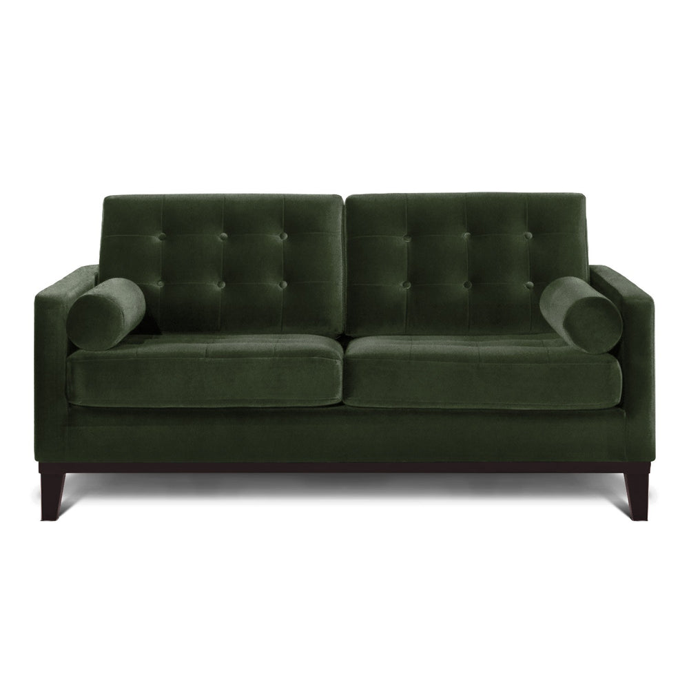 Henrietta Two Seater Sofa: Olive Green
