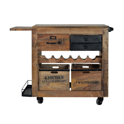 Pullman Industrial Bar Cart