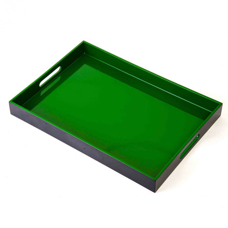 Bamboo Tray: Green & Black