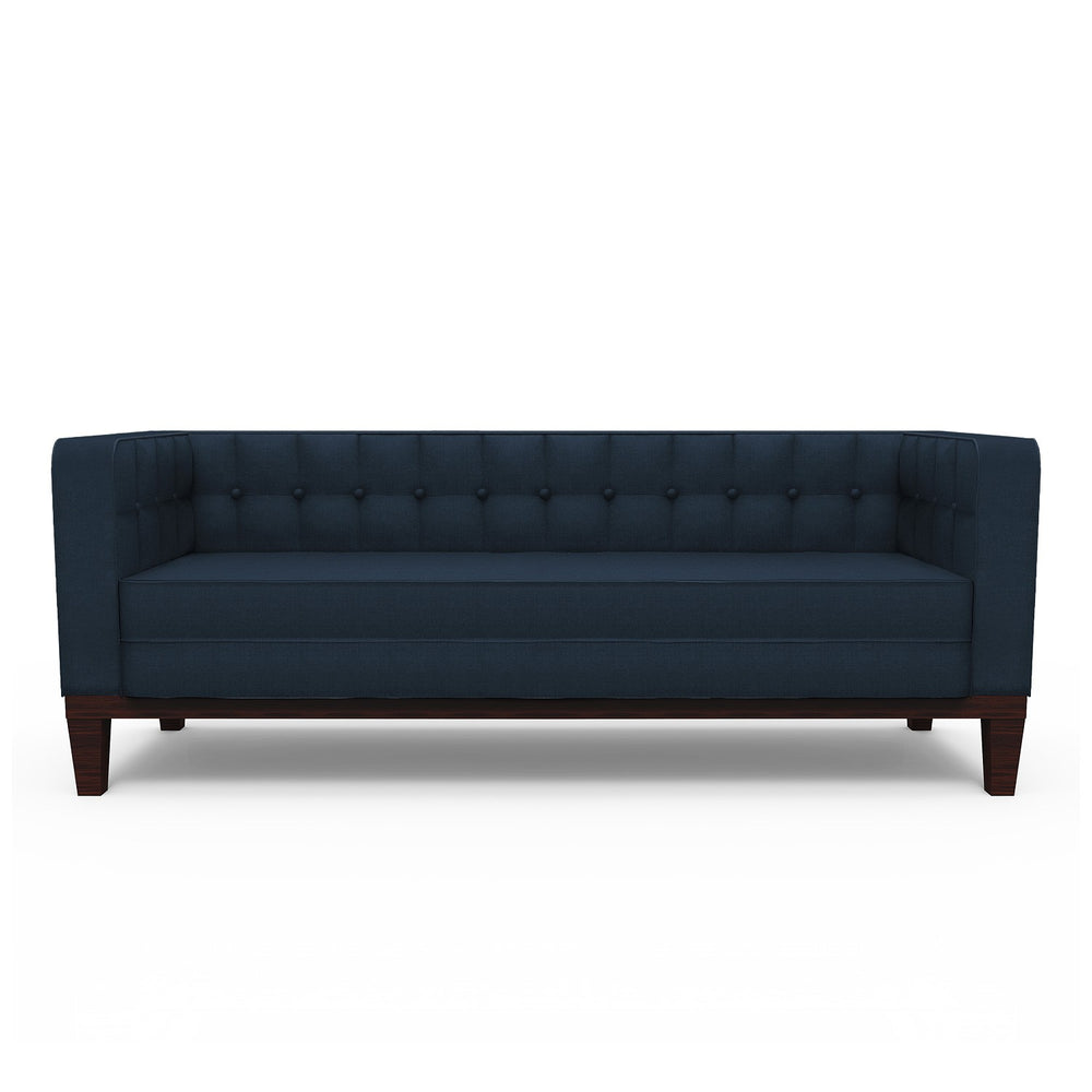Lara 3 Seater Sofa: Burnt Blue, Fabric