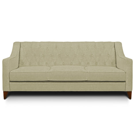 Long Harriet 3 Seater Sofa: White Sand, Fabric