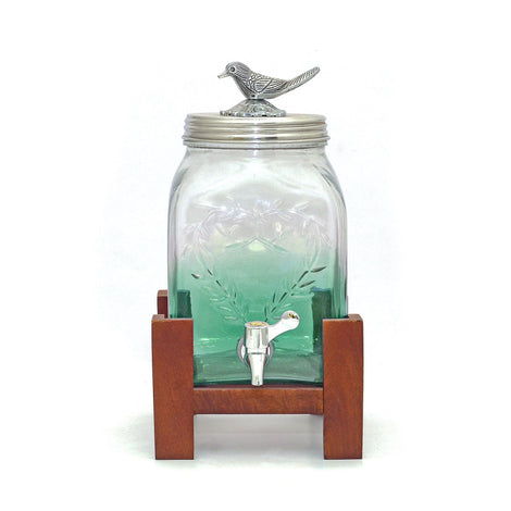 Sea Green Mason Jar Glass Dispenser