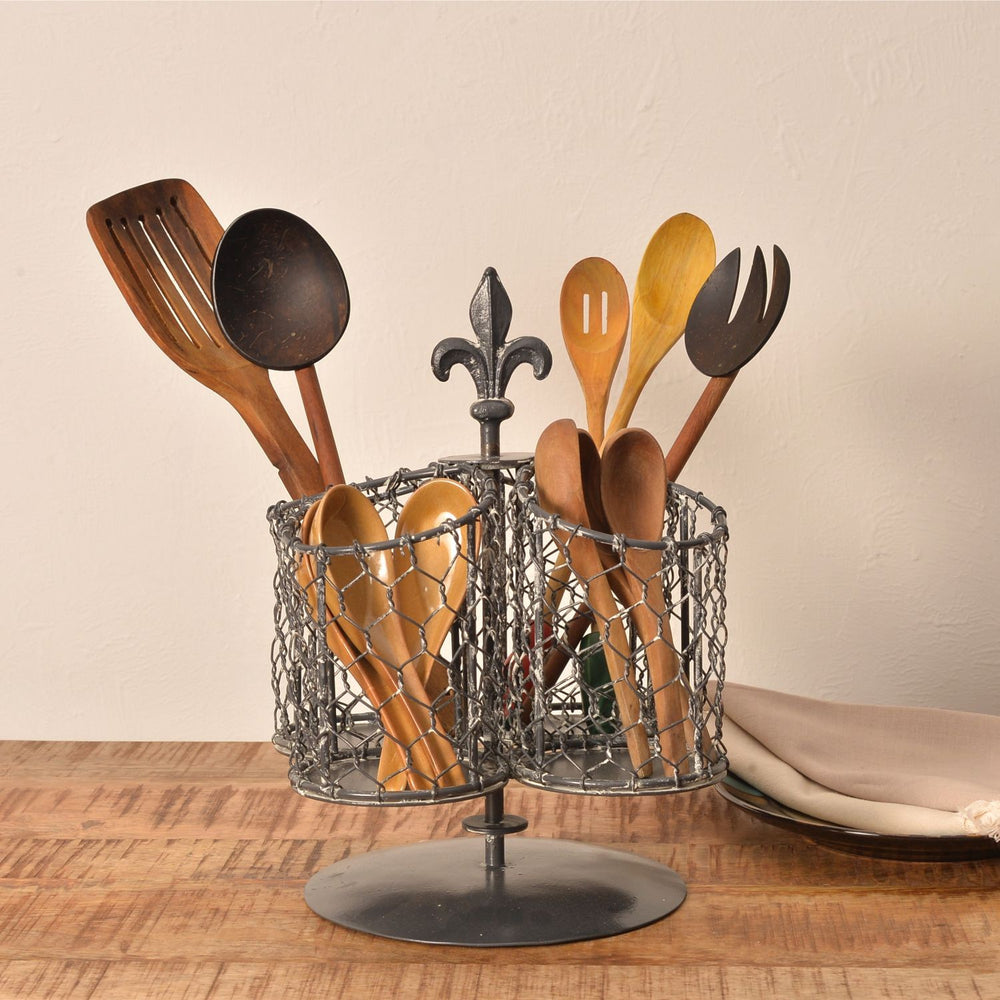 Cutlery Holder: Washed Grey