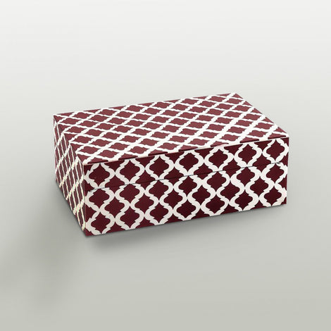 Red Ikat Print Treasure Box, Small