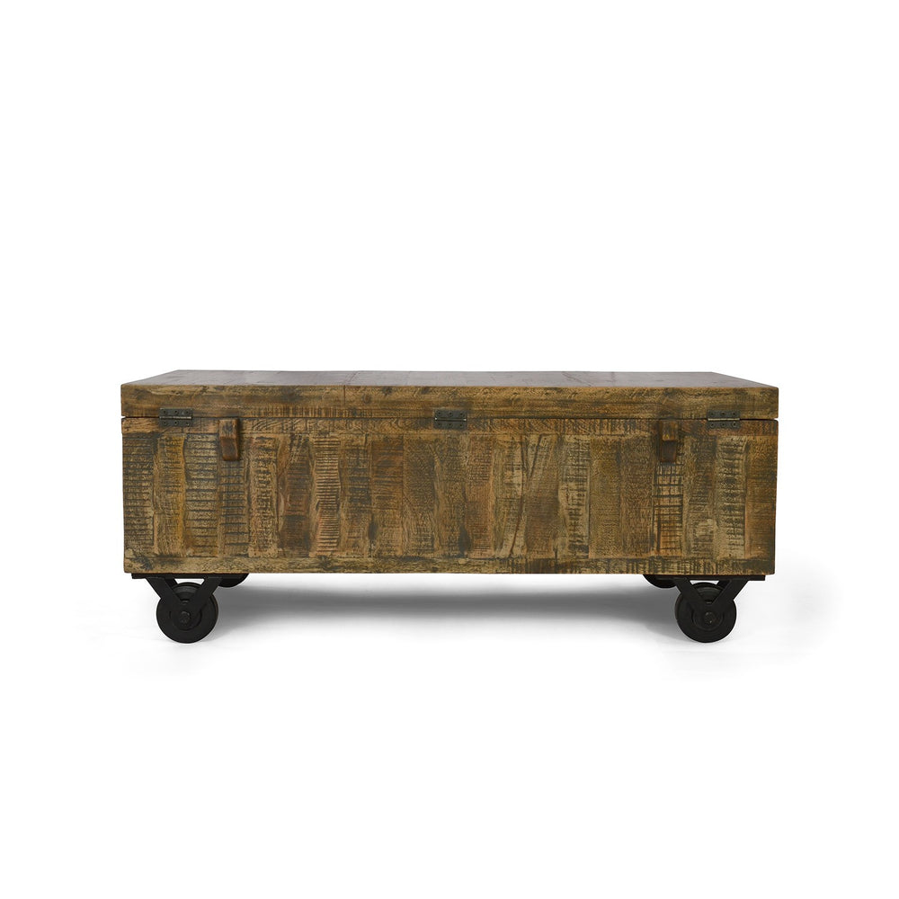 Rustic Wooden Trunk