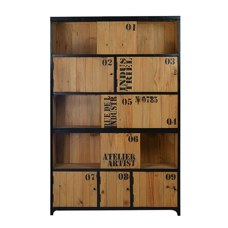 Smokestack Industrial Large Cabinet