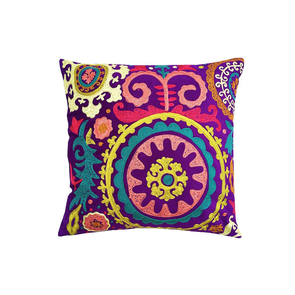 Suzani Purple Cushion Cover