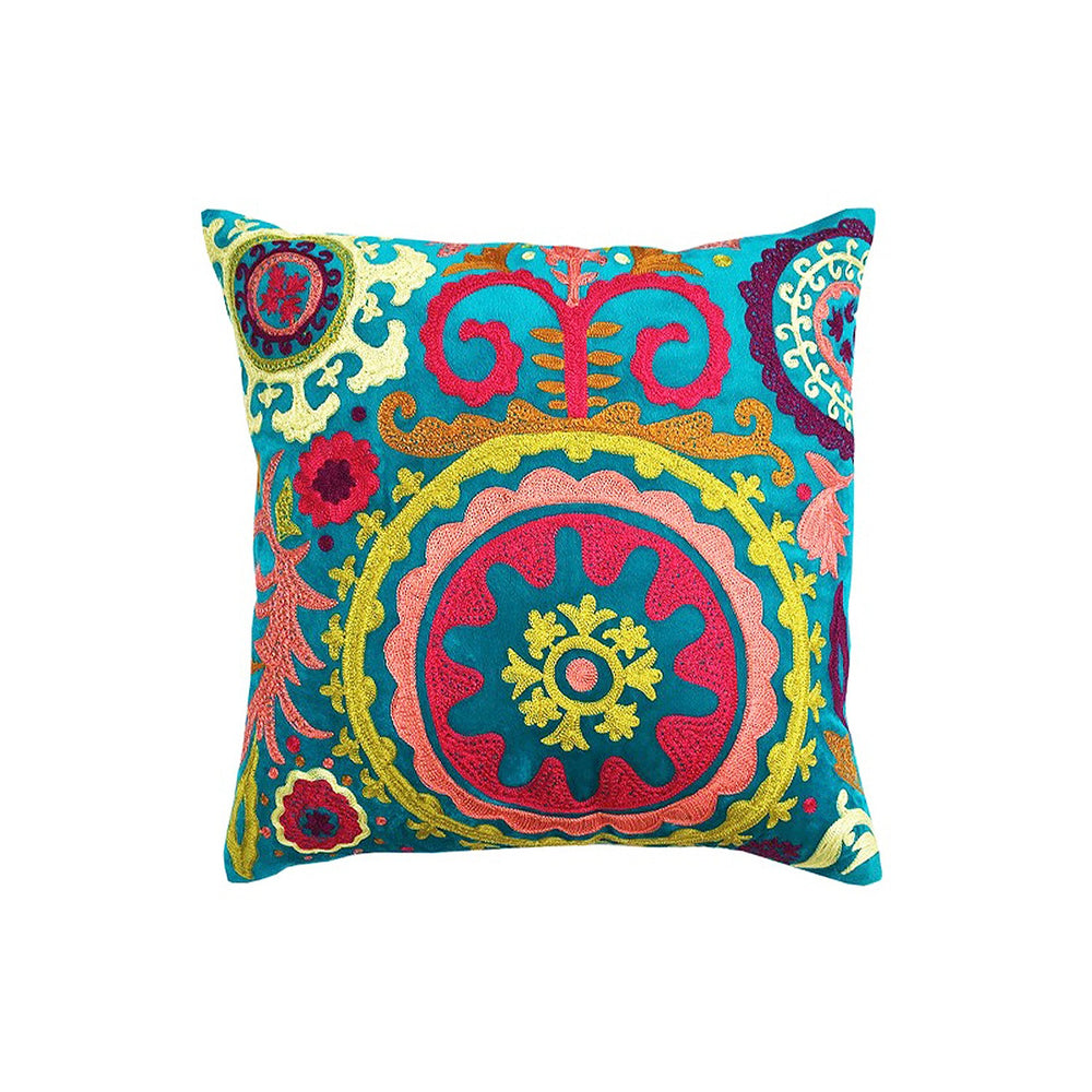 Suzani Turq Cushion Cover