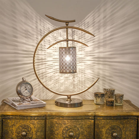Golden Crescent Lamp