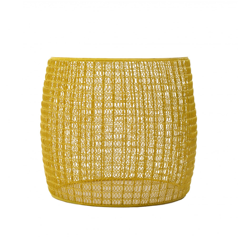 Yellow Mesh Table